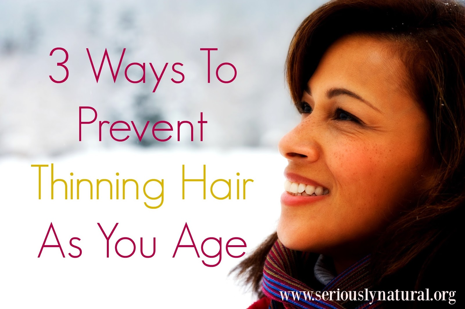 Fighting thinning hair does not have to be a losing battle. As we age our hair goes through hormonal changes but we have three ways to fight it!