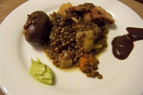 Cuisine en folie lentilles du puy au petit sal et perrugina - Cuisiner lentilles seches ...