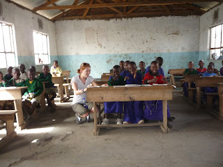 A classroom at Eluwai Primary School, Tanzania