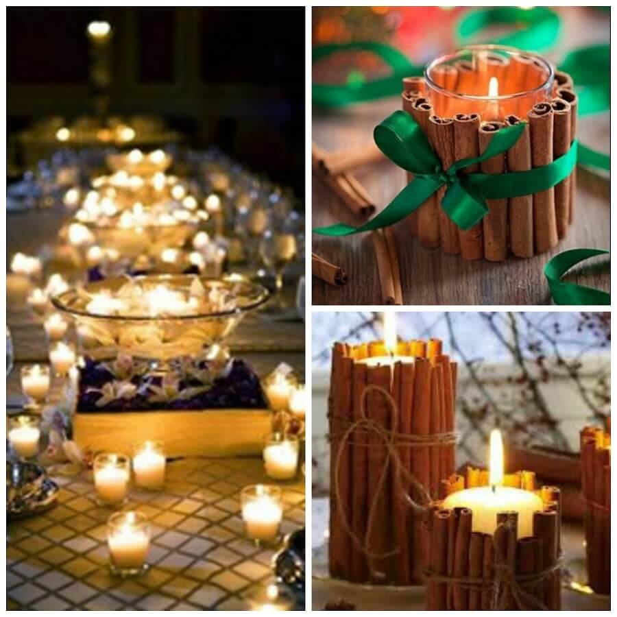 Una pizca de hogar centros de mesa para navidad f ciles y - Centros de mesa navidenos faciles ...