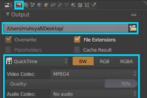 Cara menyimpan video di Blender 3D