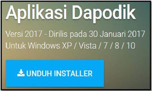 Aplikasi Dapodik 2017 D Terbaru