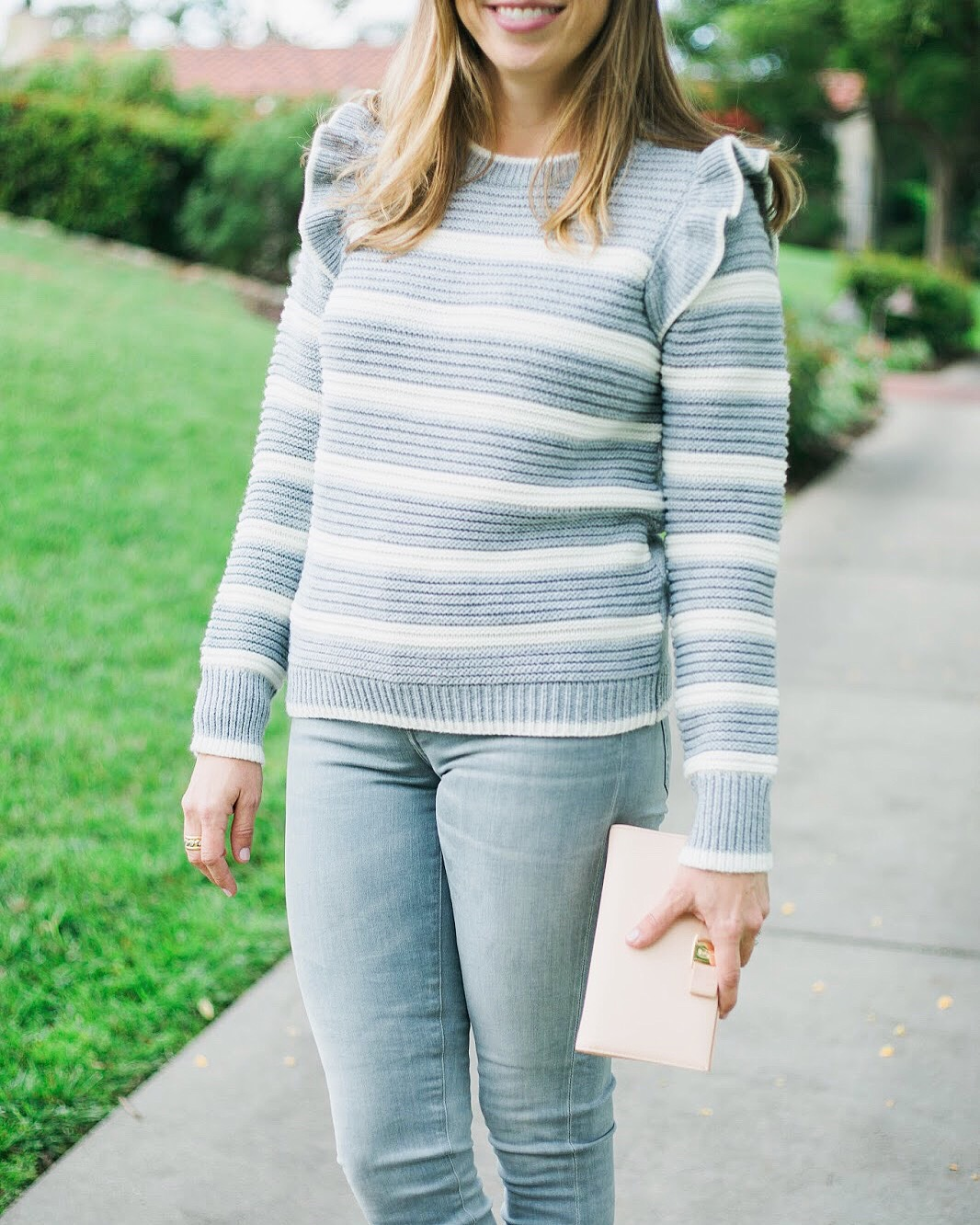 gray monochromatic outfit