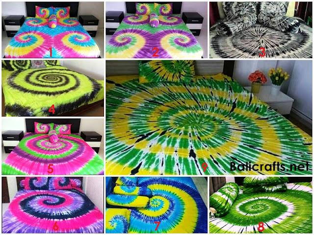 Seprai Bali Motif Tie Dye Ukuran 160 X 200
