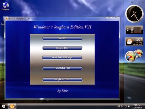 Download Windows Seven Longhorn Edition + Activator