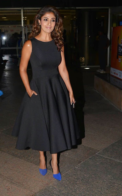 Nayantara in Mint Blush Black Outfit at 63rd Filmfare Awards