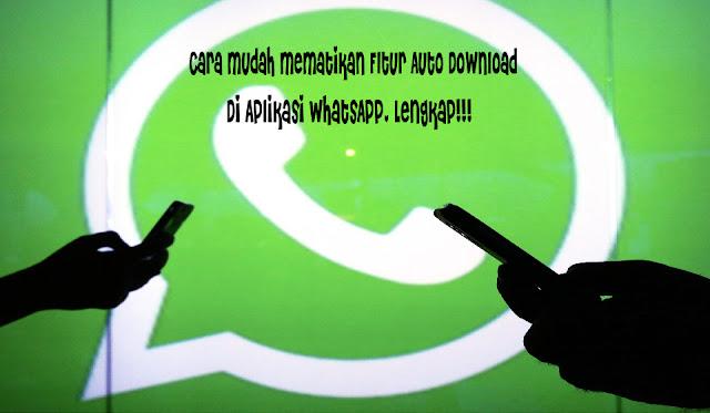 Cara Mudah Mematikan Fitur Auto Download pada Aplikasi WhatsApp