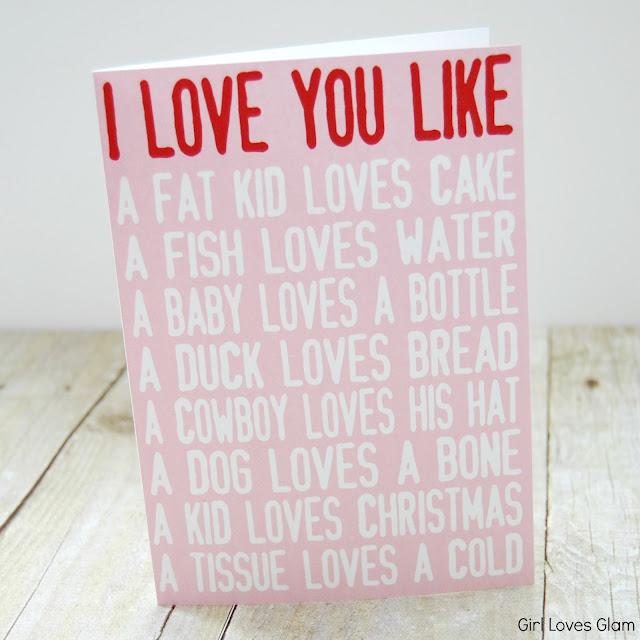 I love you like printable child valentine