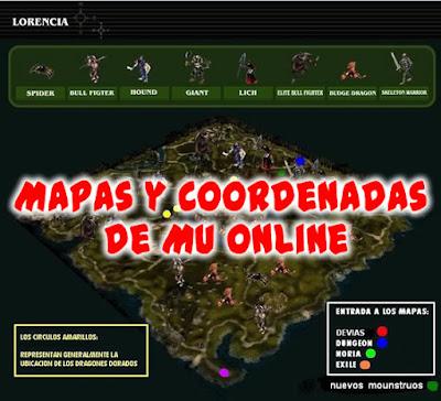Mapa y Coordenadas de Mu Online