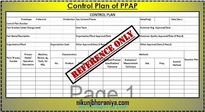 Control Plan in PPAP