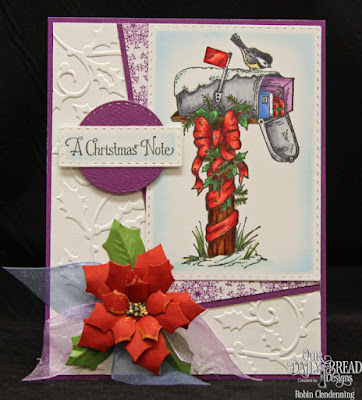 Our Daily Bread Designs, Christmas Note, Double Stitched Rectangles, Double Stitched Circles, Poinsettia, Christmas Card Collection 2016, By Robin Clendenning
