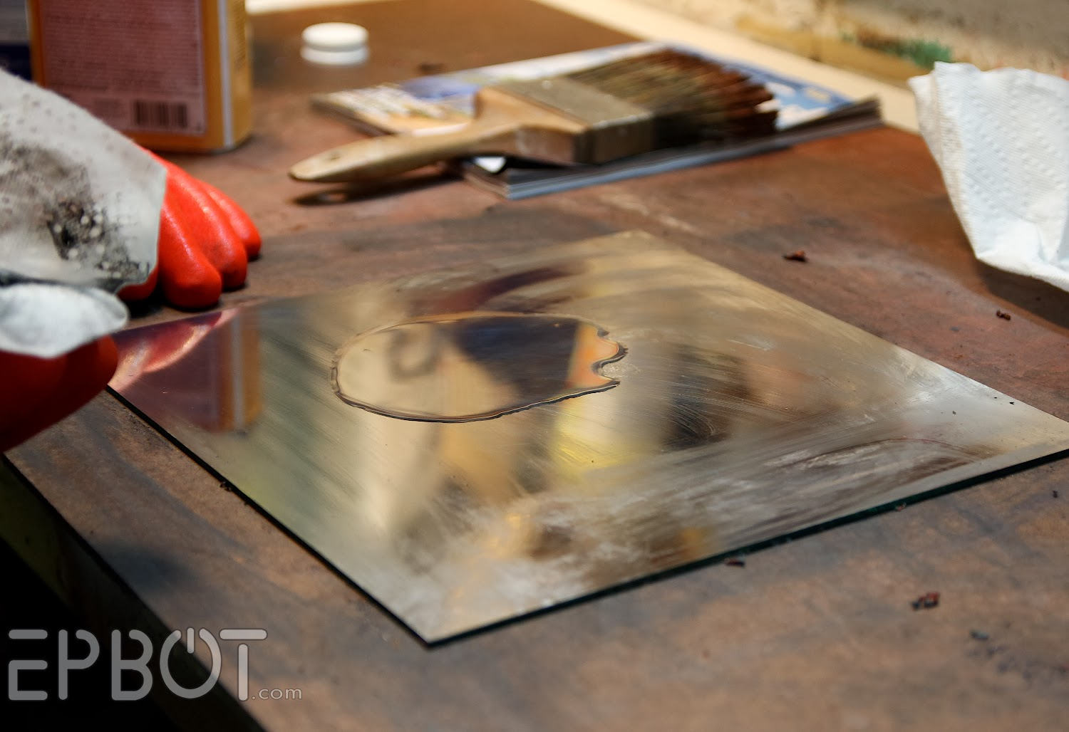 Epbot Diy Antiqued Mirror Wall Panels Or Quot Fun With