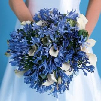 Although Options For The Blue Flowers Are A Bit Limited Very Por With Brides These Some Wonderful Ideas Bridal Bouquets