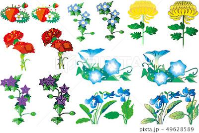 花, カット集, 花のカット集, 花のイラスト, 白バック, コピースペース, ベクター画像, カーネーション, 桔梗, 朝がお, アサガオ, 菊, スミレ, 苺, イチゴ, 花ビラ, 花束, ギフト, 贈り物, お祝い, お見舞い, プレゼント, 植物, 女性, イラスト, 自然, ベクター素材, いちご, 朝顔, かわいい, 母の日, キキョウ, 秋, 病院, すみれ, キク, パンジー, きく, 祝い, 明るい, 葉, 菫, フラワーアレンジメント, 花びら, 素材, 夏の花, あさがお, 花の素材, ベクター