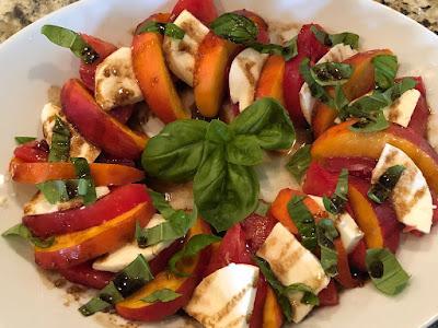 Peach, Tomato and Mozzarella Salad