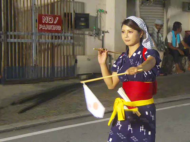culture, dance, Eisa, Okinawa, nighttime