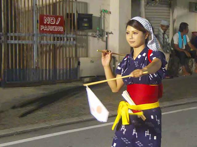 culture, dance, Eisa, Okinawa, nighttime