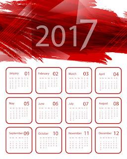 2017カレンダー無料テンプレート219