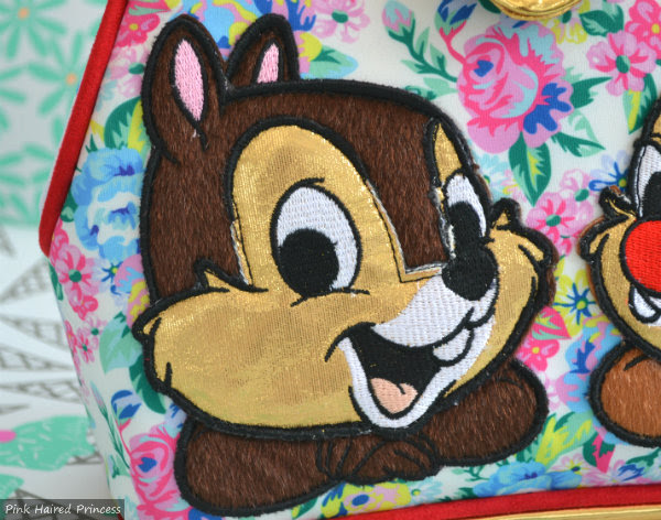 irregular choice disney chip n dale bag chip applique close up