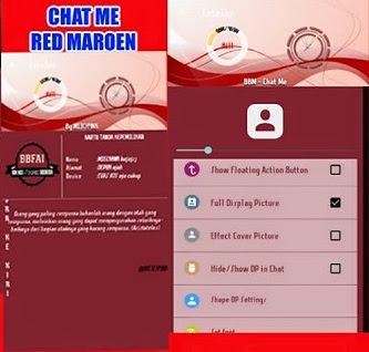 BBM Mod Chat Me Tema RED MAROEN v.3.0.0.18