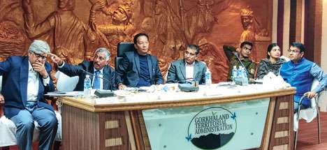 Binay Tamang at the meeting in Darjeeling