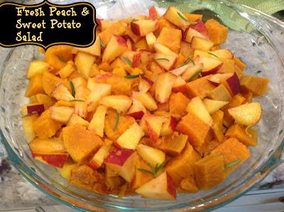 Gluten Free A-Z: Fresh Peach & Sweet Potato Salad