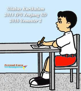 Silabus Kurikulum 2013 IPS Jenjang SD 2016 Kelas 1 Semester 2