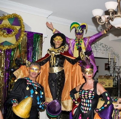 Mardi Gras theme party entertainment and decoraion
