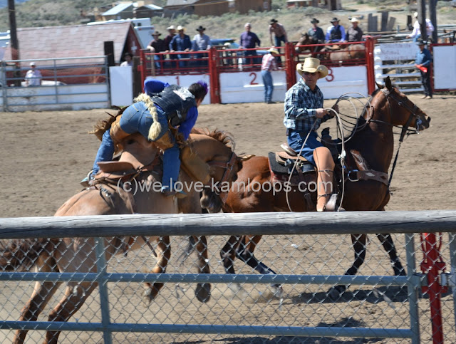 Getting off the bucking horse after the ride is complete can be difficult