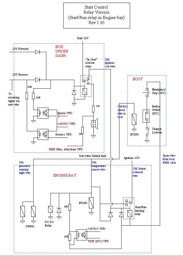 Electric Vogue: Start/Run Control Circuit Diagram