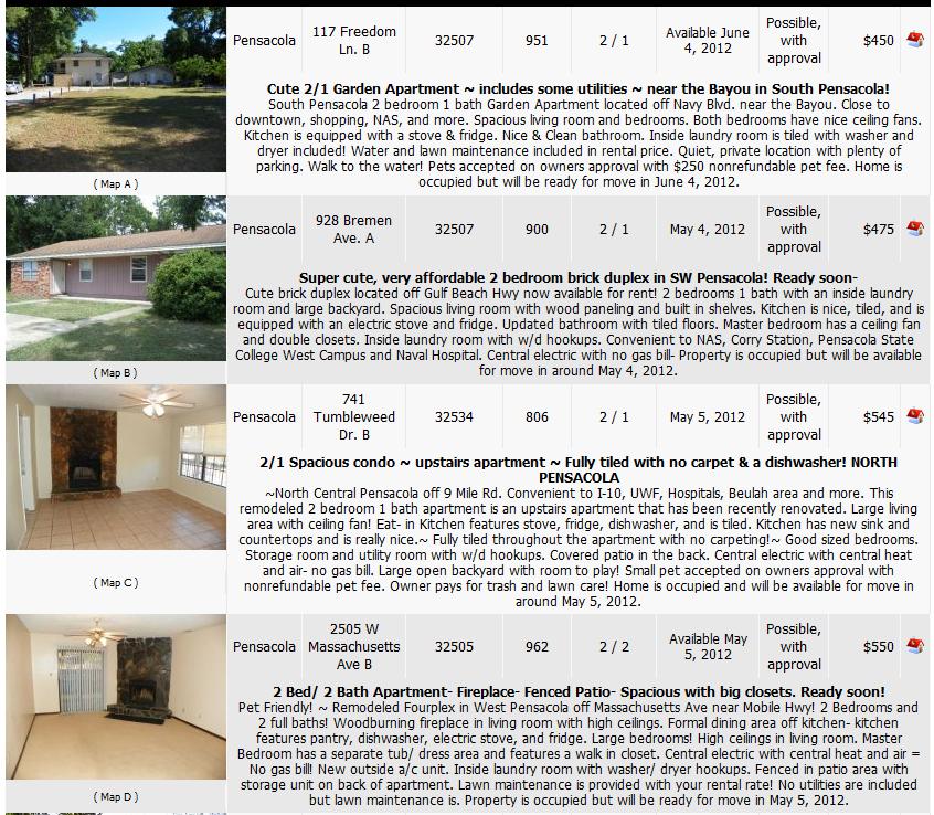 Rental Properties In My Area: Love To Live In Pensacola, Florida: Rental Homes
