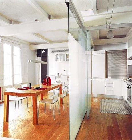 Cerramientos entre cocinas y salones cerramientos en for Cerramientos de interiores