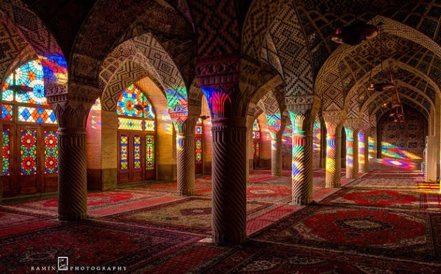 travel, masjid, masjid indah, shiraz, islam, muslim