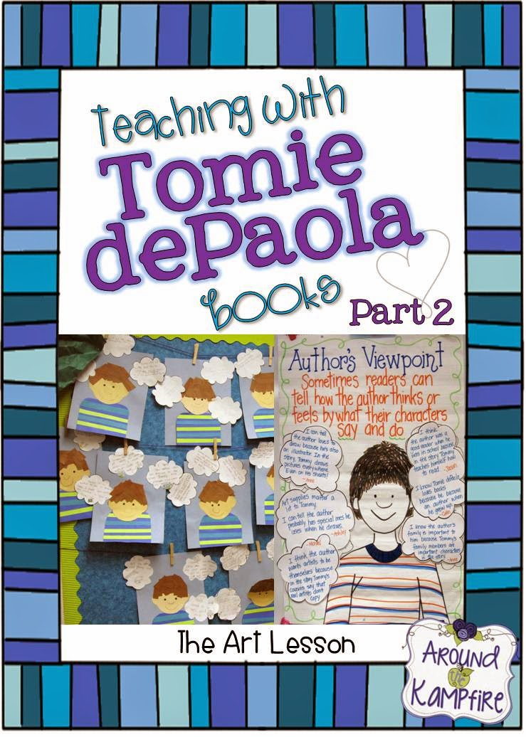 A four-part blog series on teaching with Tomie depaola books. This teacher shares ideas for using The Art Lesson to teach story structure and author's viewpoint.