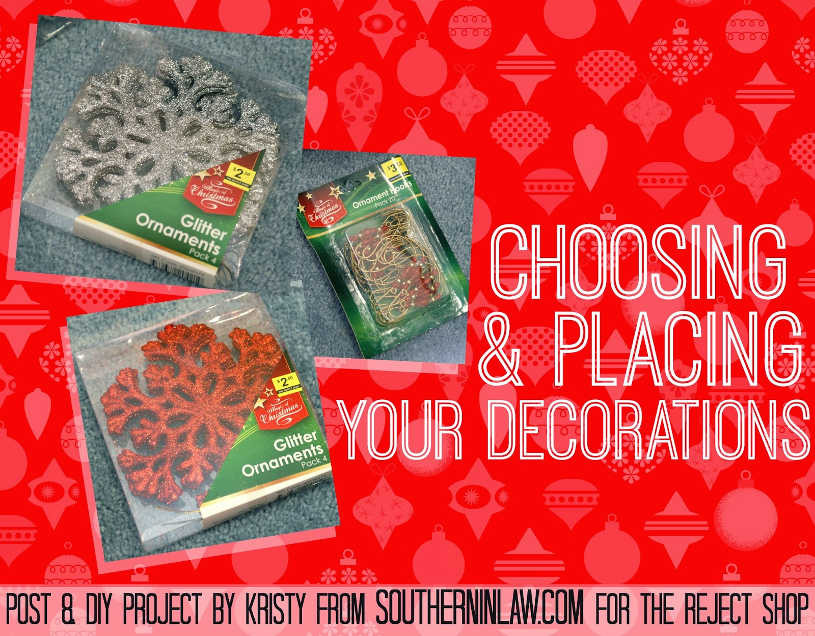 How to choose and place your Christmas ornaments