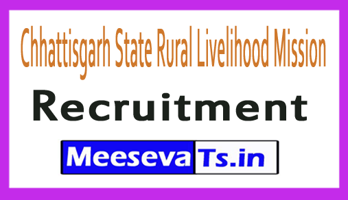 Chhattisgarh State Rural Livelihood Mission CGSRLM Recruitment