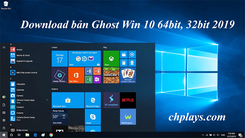 Download Ghost Win 10 64bit 2019 Nhẹ- Bản full driver, full soft google drive c