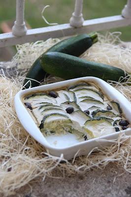 Flan de courgettes aux olives (vegan)