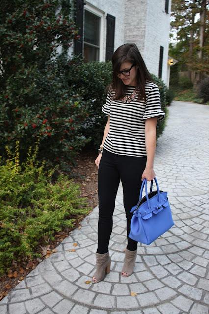 stripes, ruffles, pink