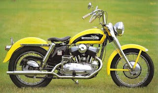harley davidson k model yellow 1952