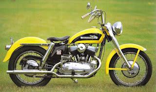 harley davidson k model yellow 1952