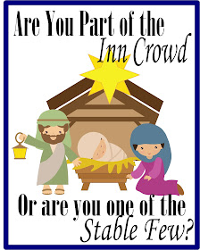 Are You Part of the Inn Crowd or One of the Stable Few Free Printable