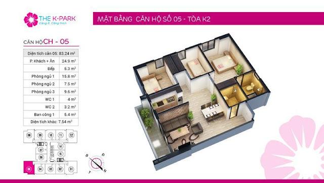 Thiết kế căn hộ 05 tòa k2