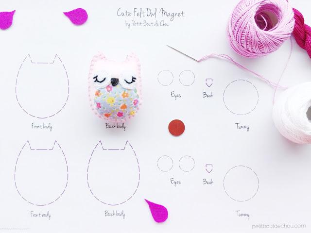 DIY stuffed felt owl with free pattern
