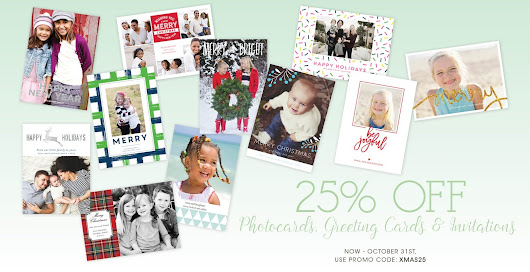 Save 25% on personalized Holiday Photo Cards from Boatman Geller