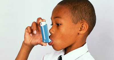 African American child with asthma