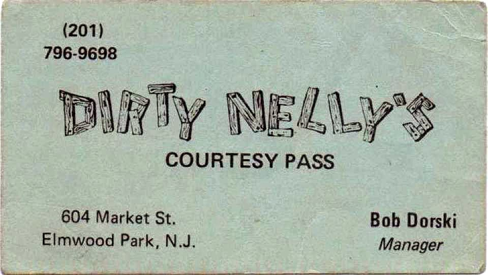 Dirty Nelly's business card
