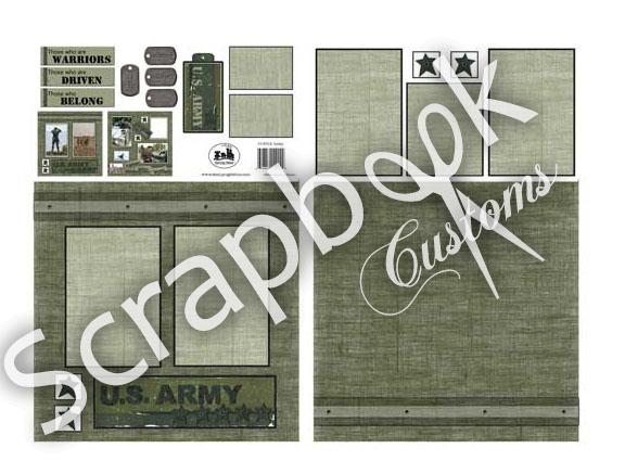 Ihm Military Page Kits From Scrapbook Customs