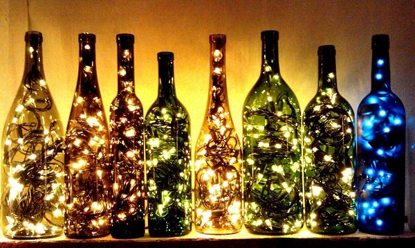 Как сделать из бутылки светильник