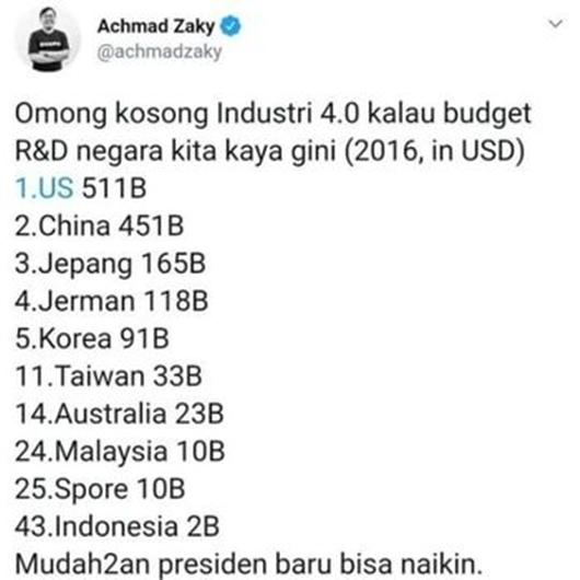 CEO Bukalapak Minta Maaf ke Jokower soal Cuitan Industri 4.0